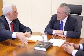 Resultado de imagem para presidente Temer e  Temístocles Filho
