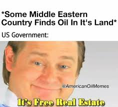 real estate free us government finds oil its free real estate american oil memes
