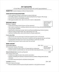 Sample Of Electrician Resume Resume Examples Apprenticeship Sample