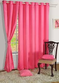 swayam curtain concept premium blackout eyelit faux silk door curtain 48 x90 pink bld01 1010 hot pink in home kitchen