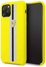 Casekoo slim fit compatible with iphone 12 pro max case, ultra thin hard plastic protective phone case cover with matte finish coating cases 6.7 inch, blue. Amazon Com Ferrari Phone Case For Iphone 11 Pro Silicone Case With Soft Microfiber Interior On Track Stripes Yellow Easy Snap On Shock Absorption Drop Protection Case Officially Licensed
