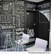 chalkboard office. design city chalkboard reception wall signage office o