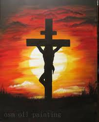 christ on the cross painting atrylic hand on the wall handmade modern abstract christ
