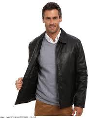 the best fashion men clothes perry ellis leather er jacket ep620330 black 87e77rts