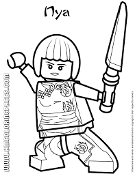 Small Picture Ninjago Nya Coloring Page H M Coloring Pages