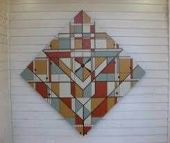41 best Barn Quilts images on Pinterest | Louisiana, Children and ... & B & G Deco - Ponchatoula Trail Love the Frank Lloyd Wright look! Looks 3 Adamdwight.com
