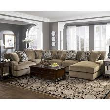 gray living room furniture. Grenada - Mocha Large Sectional Living Room Set Gray Furniture