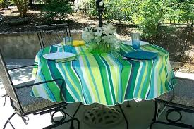round outdoor tablecloth with umbrella hole zipper awesome patio or