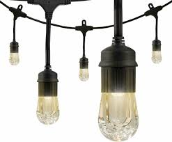 Enbrighten Cafe Lights 36 Feet Enbrighten 18 Bulb 36 Ft Integrated Led Cafe String Lights Black 33171