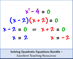 algebra solving quadratic equations bundle 3 methods perfect for gcse and a