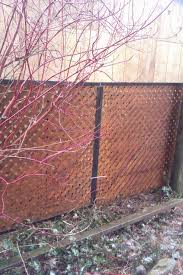 cover an ugly chain link fence with privacy lattice framed with aluminum j channel fits