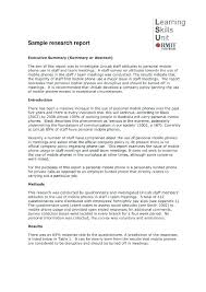 Apa 6 Sample Paper Sample Research Report Template
