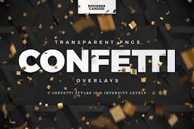 Confetti Brush Photoshop Png Confetti Overlays Transparent Designercandies