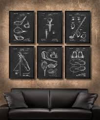 set of 6 golf art stylish modern art print for home or office decor beautiful image quality a thoughtful gift for golf player instructor or golf on golf wall art near me with set of 6 golf vintage patent illustration art print or canvas wall