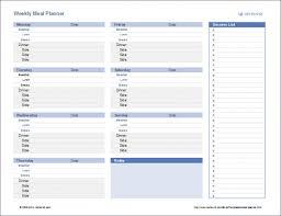 four week meal planner meal plan template word 6 week planner snap pleasurable four weeks