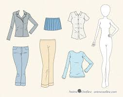 How To Draw Girl Shirts How To Draw Anime Clothes Animeoutline