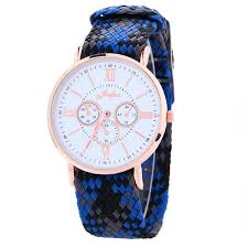 coloured watches for men promotion shop for promotional coloured unisex mens women 2016 ribbon weave watch roma 3 eyes design fashion colourful bands casual ladies quartz watches for mens women
