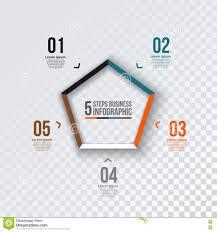 Vector Pentagon Infographic Stock Vector Illustration Of