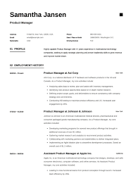 Formal Resume Sample Product Manager Resume Sample Template Example Cv Formal