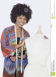 Black Clothing Designers Portrait Of African American Female Fashion Designer With