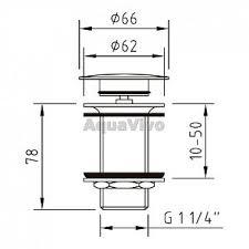 <b>Донный клапан</b> для раковины <b>Clever Vela</b> 97395 Quick-Clac, в ...