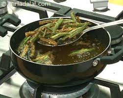 Image result for bhindi fry oil