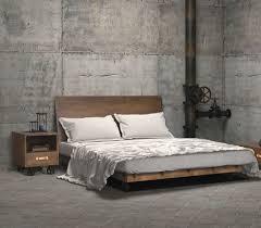 Dutch Queen Platform Bed Frame industrial-bedroom
