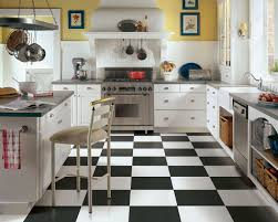 White Tile Floor Kitchen Black And White Kitchen Tiles Outofhome