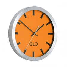 glo aluminium wall clock 310mm diameter