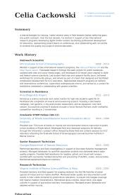 Scientist Resume Samples - Visualcv Resume Samples Database