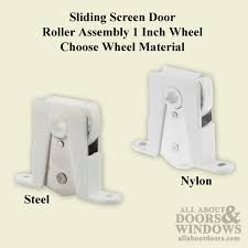 adjule bottom roller assembly with 1 inch wheel for sliding screen door choose wheel material