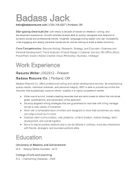 How To Write A Resume Badass Resume Company