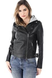 salt tree women s zipper front faux leather detachable hooded biker jacket com