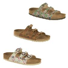 birkenstock florida meadow flowers vintage leather birko flor slides sandals
