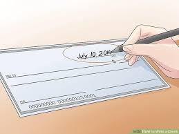 how to write a check steps pictures wikihow image titled write a check step 1