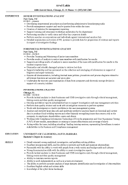 Fraud Analyst Resume Sample Investigations Analyst Resume Samples Velvet Jobs 2