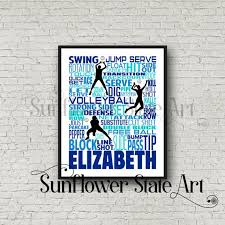 Volleyball Shot Chart Personalized Volleyball Poster Volleyball Typography Volleyball Team Gift Volleyball Print Volleyball Art Gift For Volleyball Player