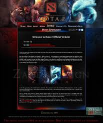 dota 2 website by zadelim on deviantart
