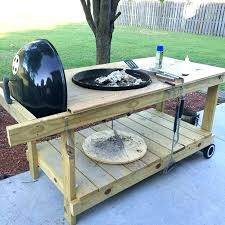 outdoor grill prep station plans grilling table r indoor kettle great weekend project exterior home ide