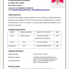 Resume Format Doc Resume