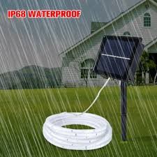 Us 19 41 32 Off Smd2835 Solar Led Strip Light 100led Solar Powered Waterproof Tape Ribbon Bar Tube Outdoor Lighting Decoration Garden Lawn Lamp In