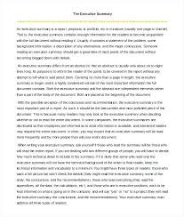 Format For An Executive Summary Executive Summary Template Doc Clemsonparade Co
