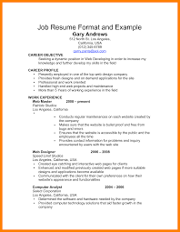 Basic Job Resume Templates Financial Resume Samples Client