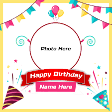 birthday frame with name and photo