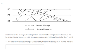 Here is how you do it. Solved For The Run Of The Chandy Lamport Algorithm Answe Chegg Com