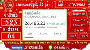 ถ่ายทอดสดผลหุ้นฮั่งเส็ง เช้า งวดวันที่ 11 ธันวาคม 2563 ตรวจผลหุ้นฮั่งเส็ง  เช้า วันนี้ - YouTube
