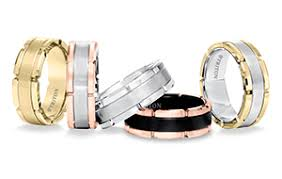 frederick goldman will apply its recently patented coatings to its triton line of men s jewelry bands from the collection are shown here