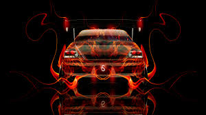 mitsubishi lancer evolution jdm back fire car