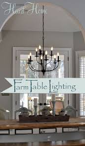 farmhouse dining room light fixtures. Lighting Over The Farmhouse Table-The Winner! - All Things Heart And Home Lowe\u0027s Online Dining Room Light Fixtures R
