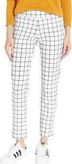 Krazy Larry Womens Microfiber Long Skinny Dress Pants White